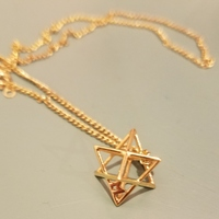 Small MILOSAURUS Tetrahedral 3D Star of David Pendant 3D Printing 99700