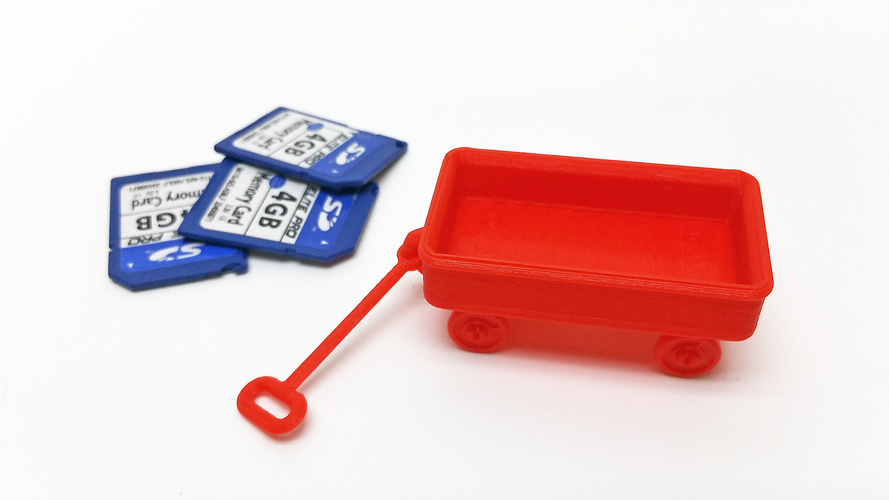 Red Wagon +/- SD card holder 3D Print 99720