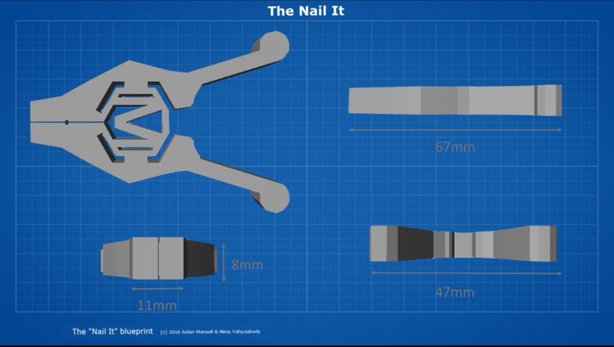 The Nail It - A simplistic nail guide for anyone. 3D Print 99771