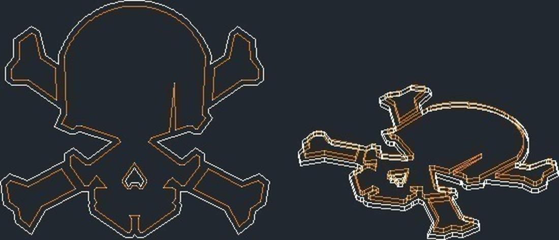 3d printed skull and cross bones based on nike hypervenom