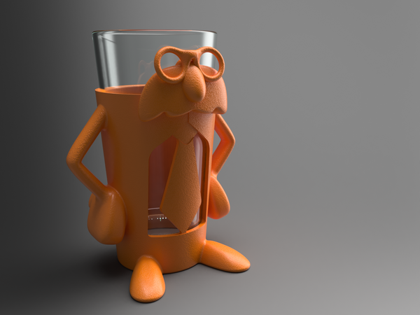 Medium Professor Pint - Add fun and accessibility to your drinking! 3D Printing 99824