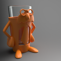 Small Professor Pint - Add fun and accessibility to your drinking! 3D Printing 99824