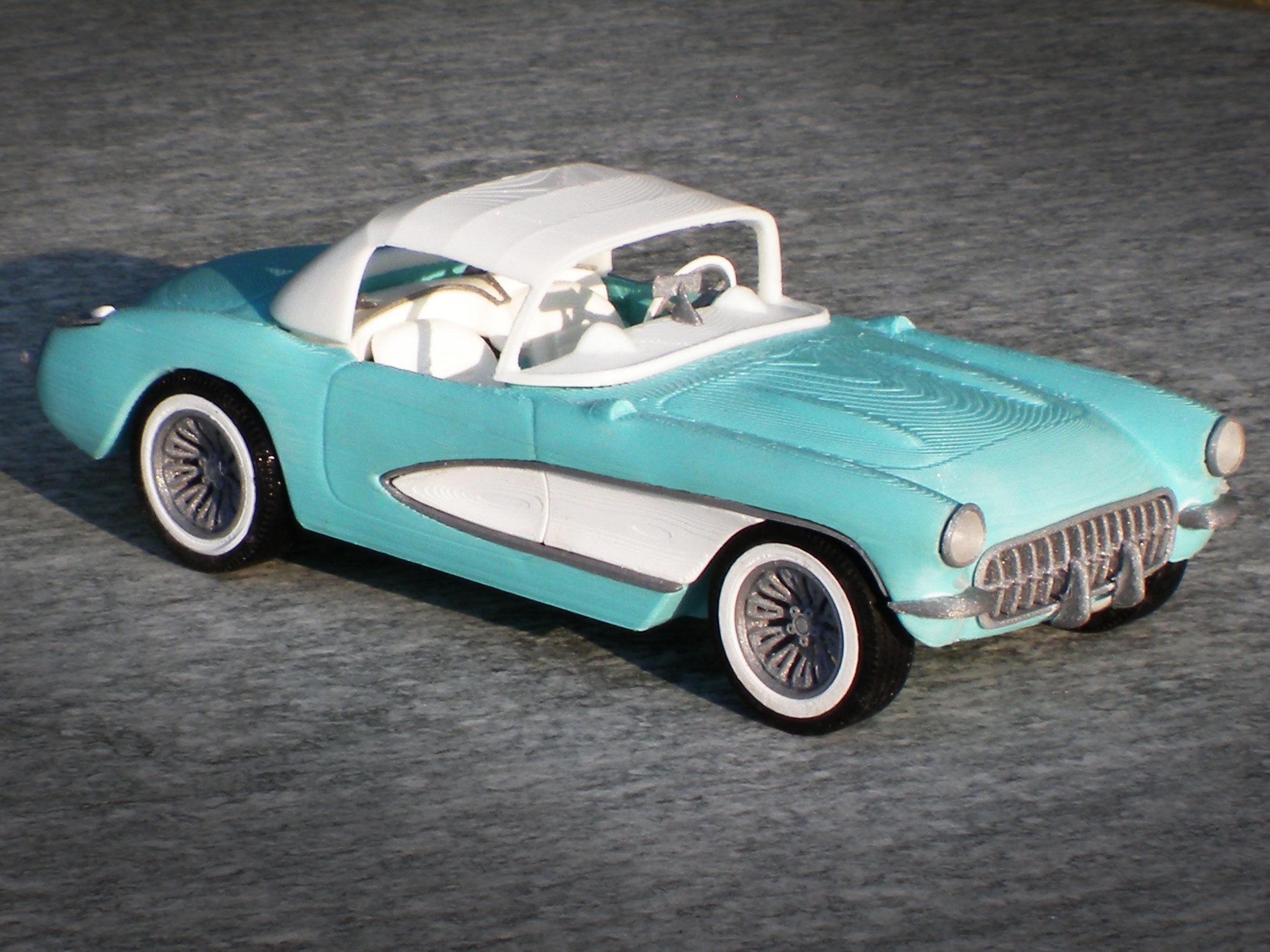 57 chevy corvette @ Pinshape