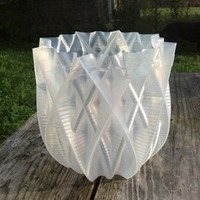 Small Vase - 16 pointed 3D Printing 99892