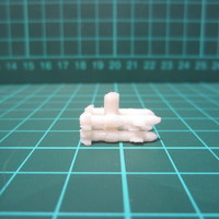 Small 4-bay Missile Launcher - Weapon Pack 3D Printing 10028