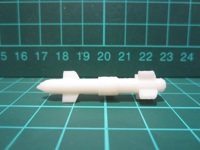 Long Range Missile - Weapons Pack 3D Print 10031