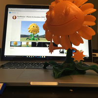 Small Sunflower - Plants Vs Zombies GW2 3D Printing 10052