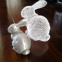 Small Stanford Easter Bunny - Voronoi 3D Printing 10154