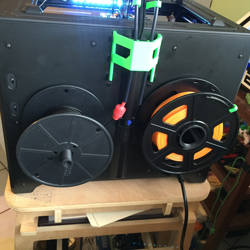 Better FlashForge Creator Pro Spool Holder 3D Print 10174