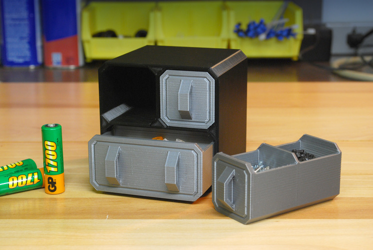 Scifi Small Part Storage Crates 3D Print 10252