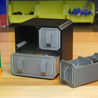 Small Scifi Small Part Storage Crates 3D Printing 10252