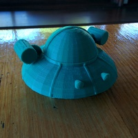 Small Rick and Morty spaceship 3D Printing 10279