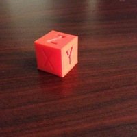 Small XYZ 20mm Calibration Cube 3D Printing 10308