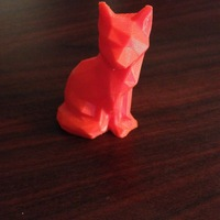 Small Low Poly Fox 3D Printing 10310
