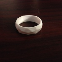 Small Low poly ring  3D Printing 10311