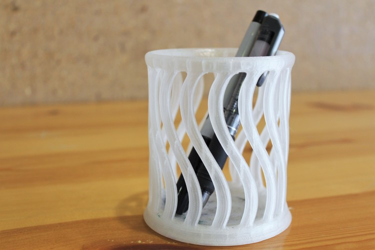 Stylized Pen Holder 3D Print 10318