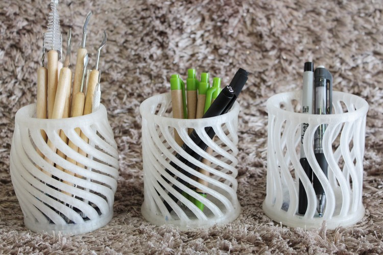 Stylized Pen Holder 3D Print 10321