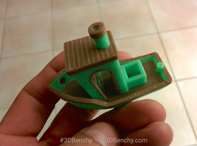 #3DBenchy - The jolly 3D printing torture-test 3D Print 1033