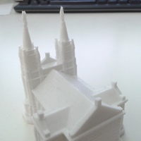 Small Sioux Falls Cathedral, South Dakota 3D Printing 10337