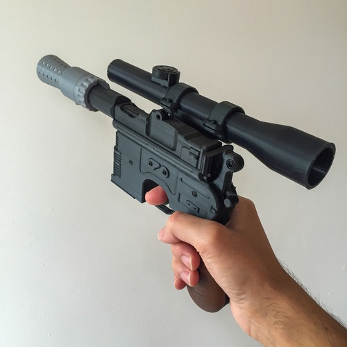 Model kit - Han Solo's DL-44 Heavy Blaster Pistol 3D Print 10434