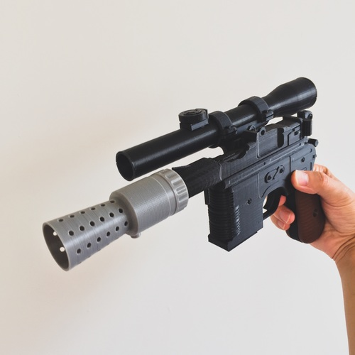 Model kit - Han Solo's DL-44 Heavy Blaster Pistol 3D Print 10436