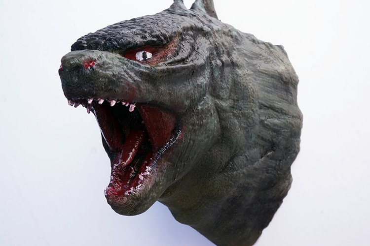 Godzilla Head Wall Mount ((Updated)) 3D Print 1046