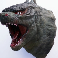 Small Godzilla Head Wall Mount ((Updated)) 3D Printing 1046