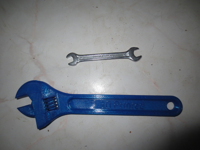 Fully assembled 3D printable wrench 3D Print 10461