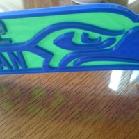Small Seahawks Placard 3D Printing 10475
