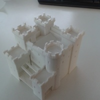 Small Teutonic castle 3D Printing 10533