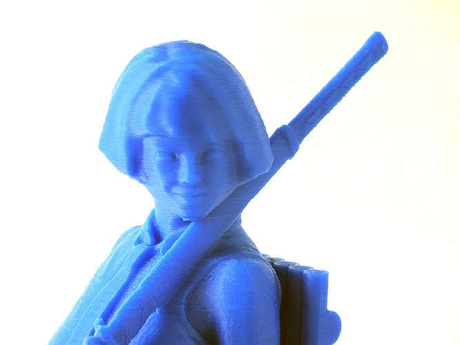 Machiko - the rebel 3D Print 1061