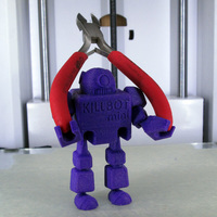 Small Print-in-Place KILLBOT mini v2.1 3D Printing 10616