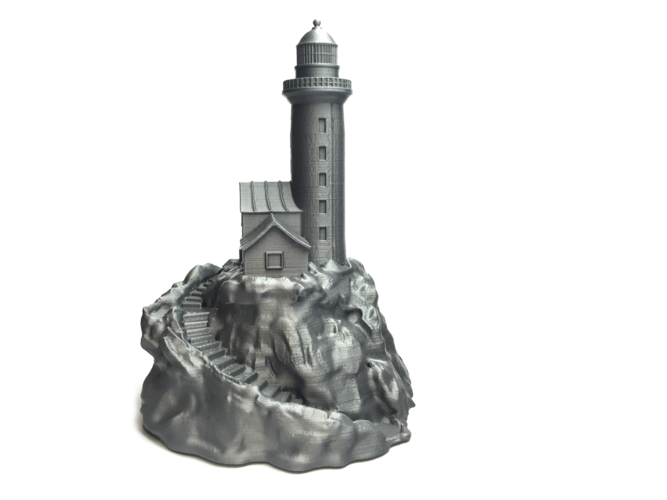 Lighthouse on a rock. 3D Print 10856