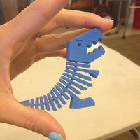 Small Flexy Rex 3D Printing 1090