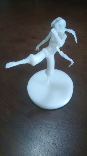 FIGHT GIRL - PRINTABLE PARTS + 4 BASES 3D Print 10957