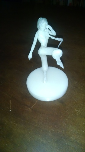 FIGHT GIRL - PRINTABLE PARTS + 4 BASES 3D Print 10958