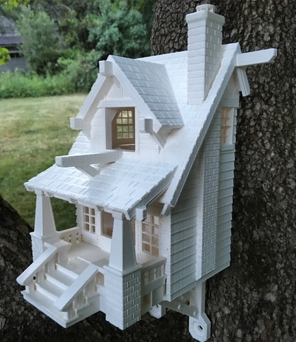 the American Craftsman Bungalow Birdhouse 3D Print 11074