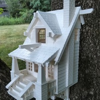 Small the American Craftsman Bungalow Birdhouse 3D Printing 11074