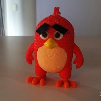 Small Angry Bird Red - 3dFactory - 3dPrintable 3D Printing 11089
