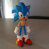Small Sonic - 3dPrint - 3dFactory 3dPrintable ZERO Support 3D Printing 11092