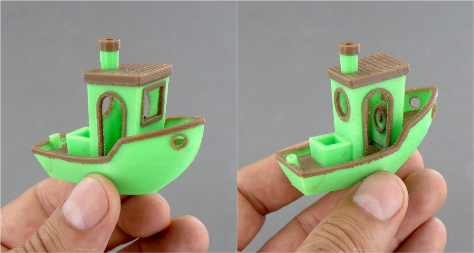#3DBenchy - The jolly 3D printing torture-test 3D Print 1111