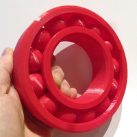 "Small Large ""Print-in-place"" Ball Bearing (Ø145mm) 3D Printing 1112"