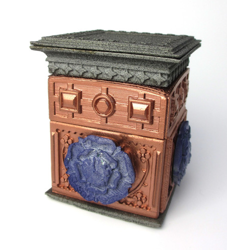 The Tudor Rose Box (with secret lock) 3D Print 11138