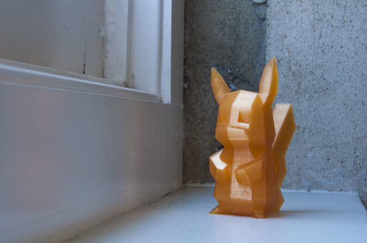 Low-Poly Pikachu 3D Print 11154