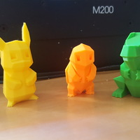 Small Low Poly Pokemon  3D Printing 11202