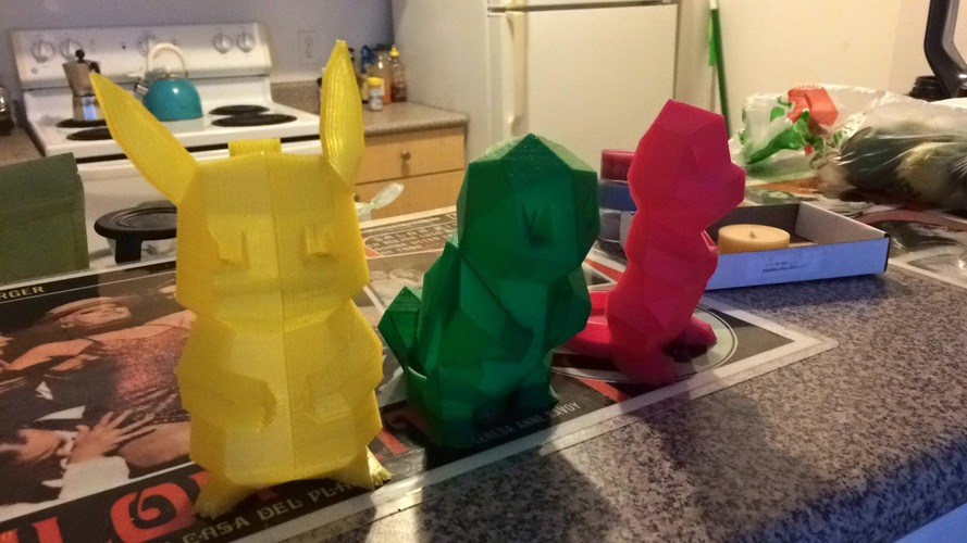 Low Poly Pokemon  3D Print 11346