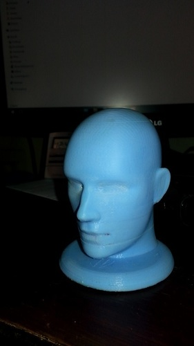 Figurine, bust, -  head on a stand 3D Print 11384