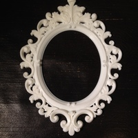 Small Baroque Picture Frame  3D Printing 11433