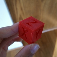 Small XYZ 20mm Calibration Cube 3D Printing 11470