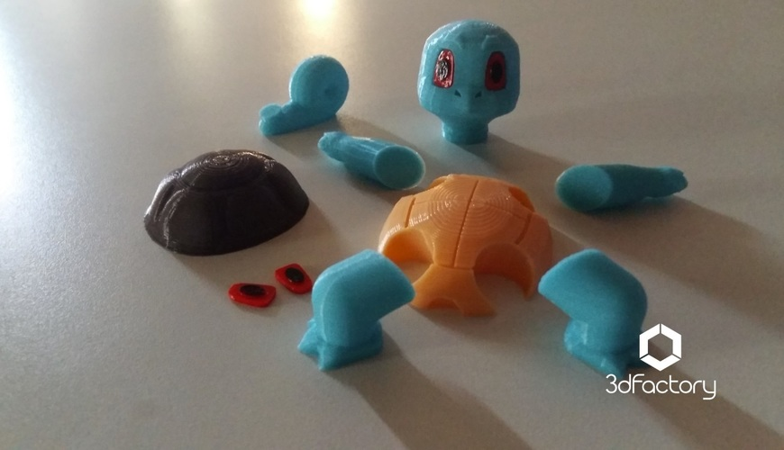 Pokemon Go Squirtle  3dFactory Brasil 3D Print 11507